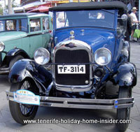 Classic Ford of classic car shows Puerto Cruz Spain