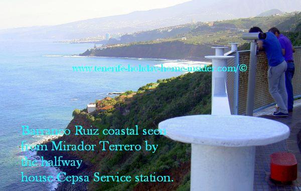 Coastal Ruiz seen from the Mirador del Terrero at Cepsa station