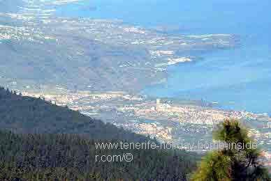 Coastal view from Mercedes Forest towards Santa Cruz de Tenerife