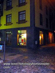 Cobble stone street by restaurant El Limon