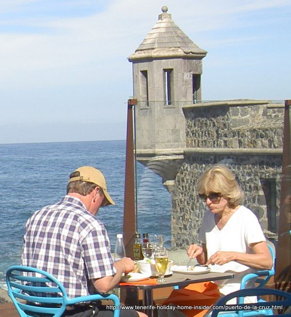 Cofradia (fisherman guild) fish restaurant with a couple eating