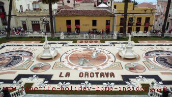 Corpus Christi carpet by town hall