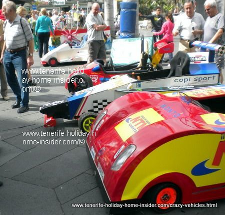 Crazy cars for carnival challenge Puerto de la Cruz Tenerife