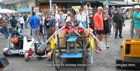 Crazy vehicles Tenerife carnival challenge