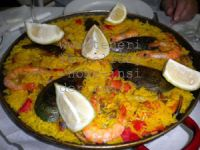 Delicious Tenerife Paella at Los Silos bar restaurant.