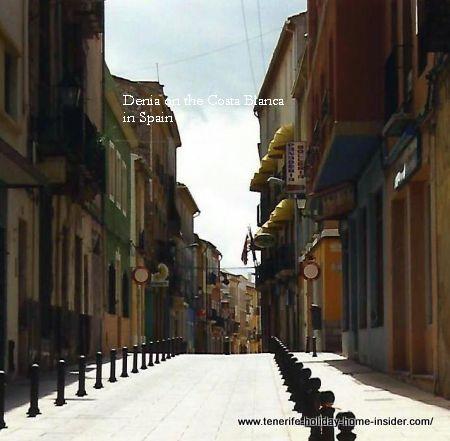Denia Spain city road