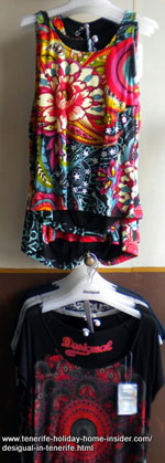 Desigual dresses at shop Puerto de la Cruz in June 2014