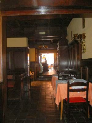 A dining room nook of many at the ancient hotel in Calle Quintana,11 Puerto de la Cruz.