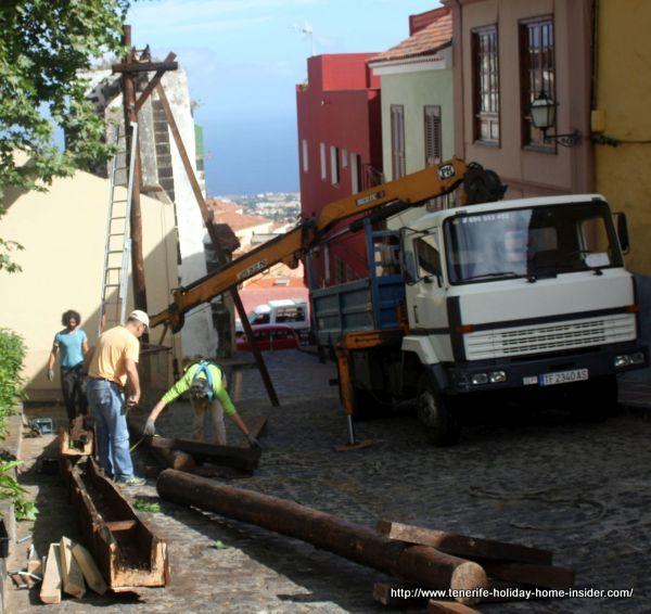 Dismantling of Orotava aqueduct