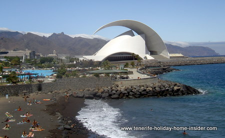 Dog beach Santa Cruz de Tenerife next to Palmetum Park