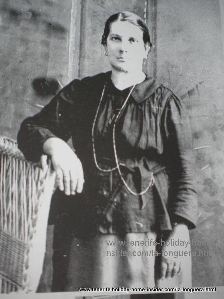 Dona Rafaela Dorta celebrity of Toscal Realejos