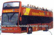 Doubledecker bus for city tours Santa Cruz Tenerife