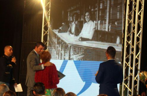 During the Gold Needle Award to Dona Antonio of the Tenerife Textile outlets El KG