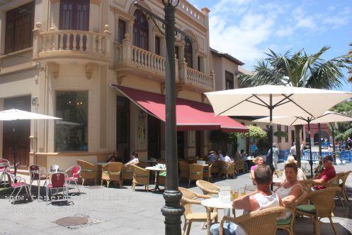 Ebano Cafe Corner cafe of Puerto de la Cruz old quarters by Plaza de la Iglesia