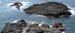 El Guindaste rocks with pools  off Rambla del Mar Realejos