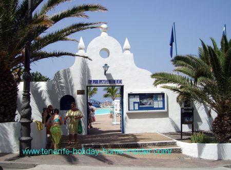El Laguillo saltwater pools at the Marina