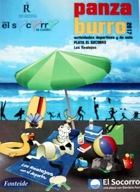 El Socorro Beach Panza Burro poster for summer events Tenerife 2017.