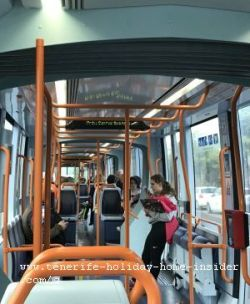 Electric tram by Tranvia Tenerife North which is not available in the South
