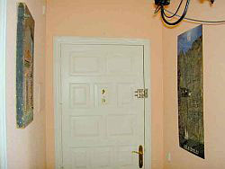 Strong entrance door with good lock