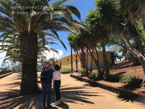 Ermita San Roque La Laguna Tenerife with its look-out to the Anaga Massif, Los Rodeos airport as well as the Island Gran Canaria behind the skyline of Santa Cruz by the sea.