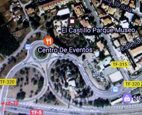Error El Castillo Parque Museo on Satellite map captured on camera.