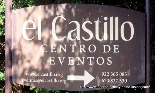 Events Center signpost of El Castillo.
