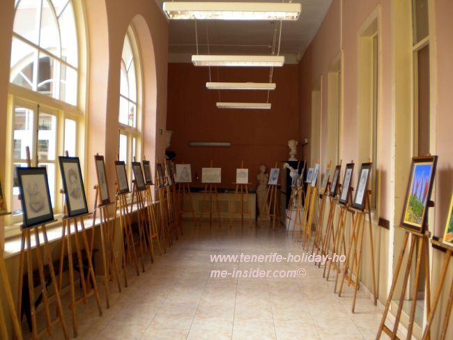 View to one of the exhibition halls of the art school of Casa de la Cultura Orotava.