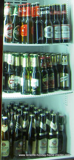 exotic beers in a bar fridge in Tenerife