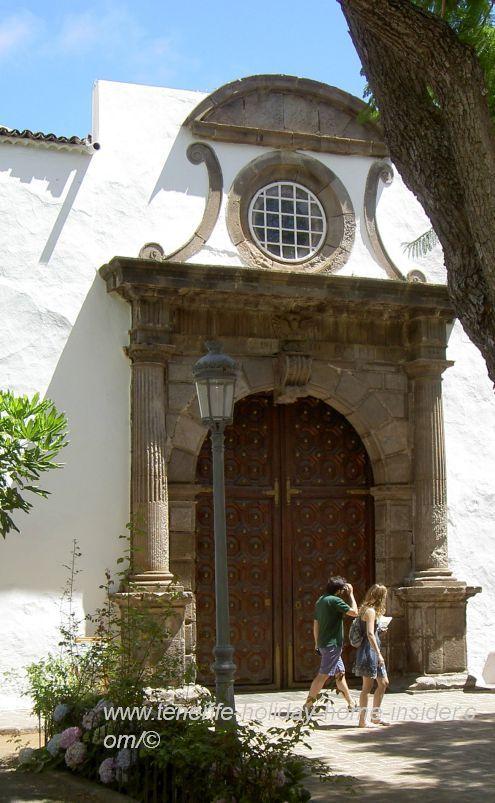 Extraordinary entrance portal Iglesia San Marcos of Icod Daute Isora