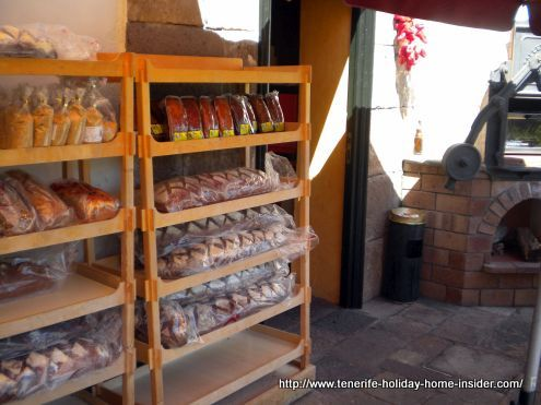 Farm bread a Monasterio house brand where a pizza oven is ready to be used on the side.