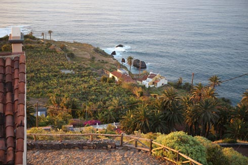 Farms by El Guindaste by the Rambla del Mar of Los Realejos Tenerife.
