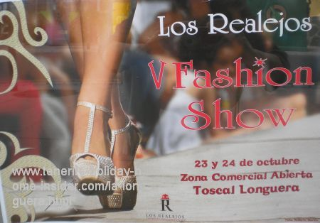 Fashion show Oct.23 and 24, 2015 poster for Toscal Longuera Street festival
