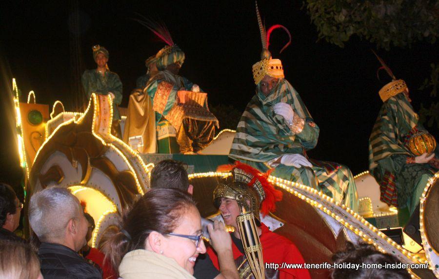 Female Roman soldier of the Cavalgata de Reyes Magos Puerto de la Cruz.