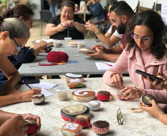 Festival de la Lana de Canarias in La Orotava with a workshop at MAIT museum on May 17, 2019