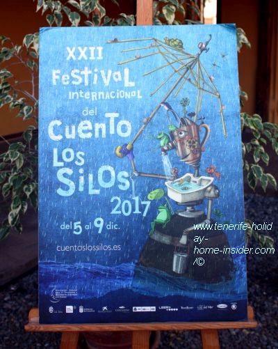 XXII Festival del Cuento 2017 Los Silos poster captured at the Convent