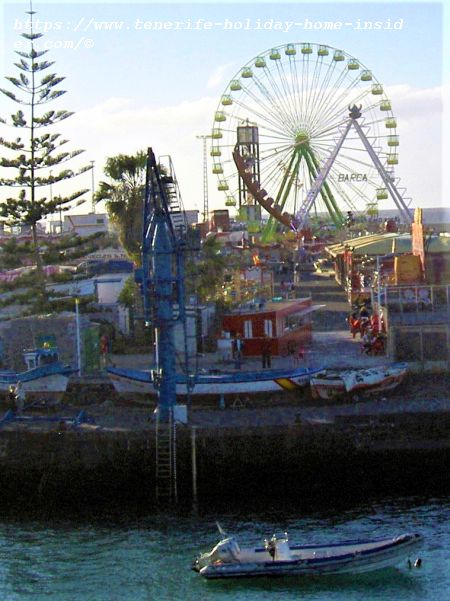Fiestas al Puerto Muelle always with funfairs attached