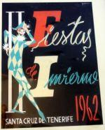 Fiestas de Invierno Poster designed by Juan Galarza for Carnival 1962.