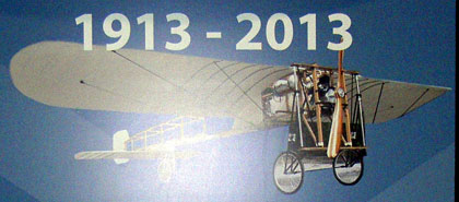 First Tenerife aeroplane Bleriot XI by Leonce Garnier