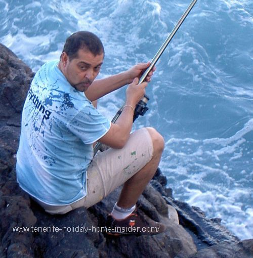 Fisherman at Punta Brava fishing