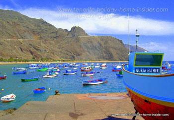 Fishing boats at Las Tereitas San Andres.