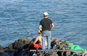 Fishing vacations with tourists again operating with the no.3 license at a legal 250 meters from Playa Jardin beach.