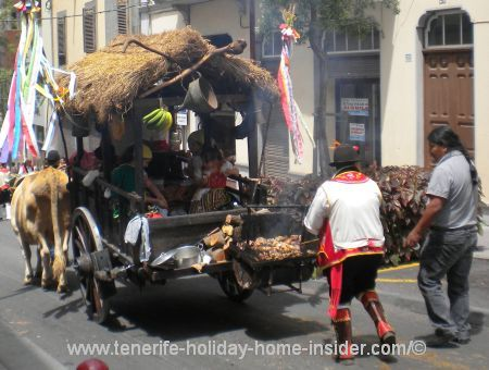 Tenerife float with meat grill or rather an ox-cart so to speak