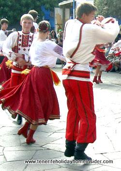 Folk dancing Tenerife El Medano 2011