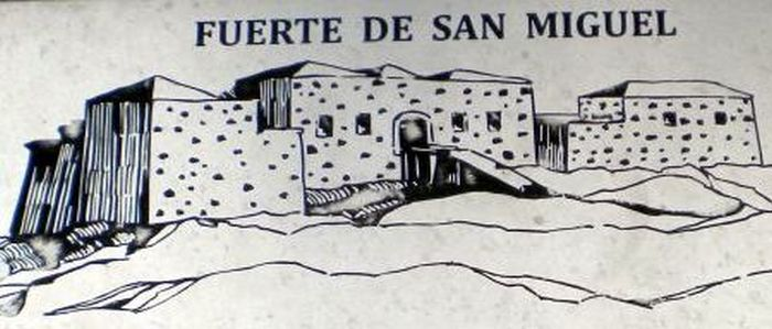 Fort San Miguel by the Barranco Tahodio of the Tenerife capital for the 2nd attempt of conquest.