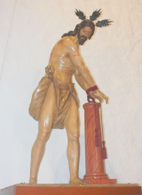 Again the Francisco Fernandez Sevillian art a closeup of the work called the Lord tied to a column.