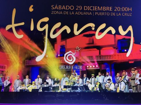 Free Christmas concert Tigaray in Puerto de la Cruz Tenerife at the Muelle by Casa de la Aduana on December 29 at 8 p.m.