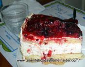 Fruit cheese cake of vegetarian cuisine
