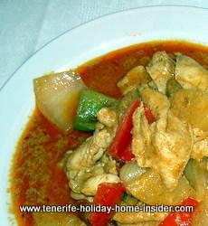 Gaeng Gari Gai Thai curry chicken Tenerife