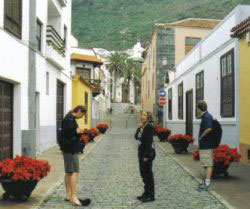 Garachico cobble road