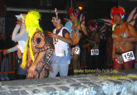 Gay parade Tenerife carnival marathon run